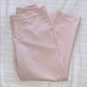 Pink Dress Pants with Scallop Pockets